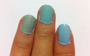 Essie Mint Candy Apples and Sally Hansen Green Blossom Comparison