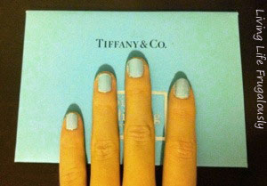 Essie Mint Candy Apple and Tiffany & Co Comparison