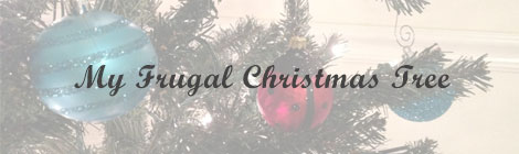 frugal christmas tree banner