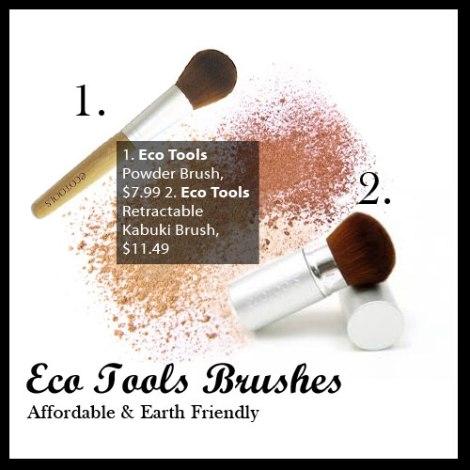 Eco Tools Powder Brush and Retractable Kabuki Brush