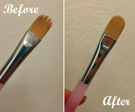 brush before and after