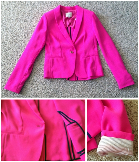 Hot Pink Blazer - The LOFT