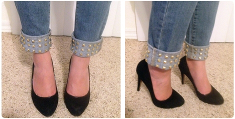 Studded Cuff Jeans