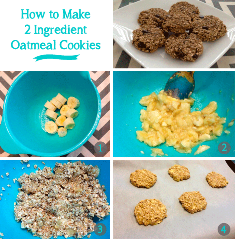 How to Make 2 Ingredient Oatmeal Cookies