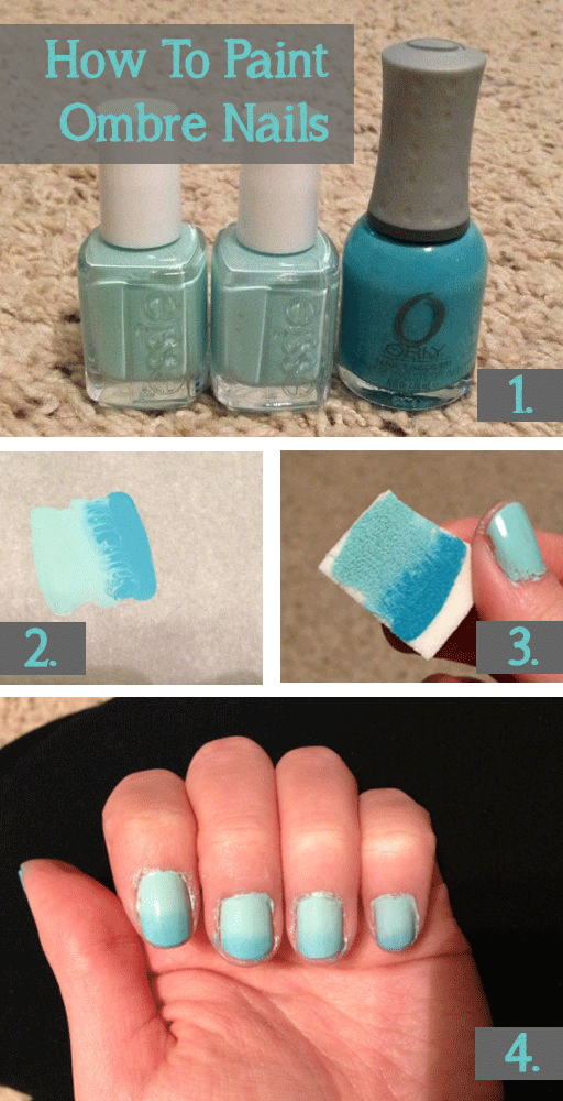 How To Paint Ombre Nails | The Frugal Diaries