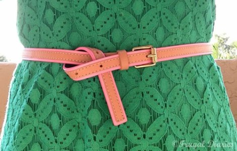 Belt with Green Dress