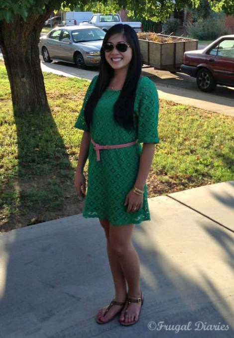 Francesca Green Dress Outfit